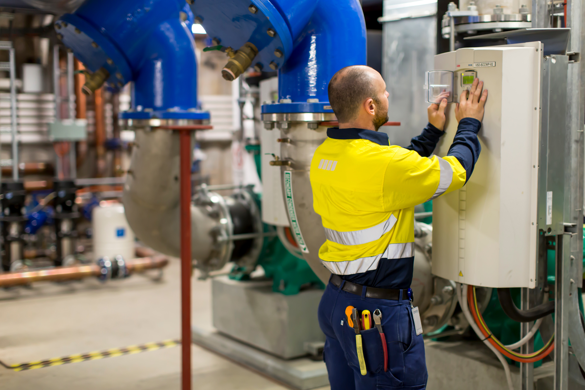 Testing and Commissioning of electrical instrumentation the Sydney Central Thermal Plant by ARA Electrical technician.
